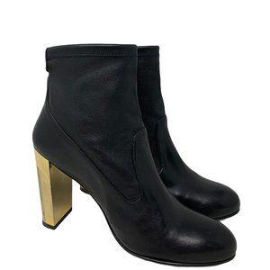 Stuart Weitzman The Glove Bootie Soft Black Stretch Leather Size 10 M